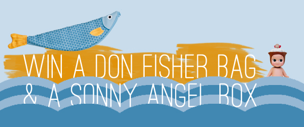 2ND BLOGIVERSARY - GIVEAWAY OF A DON FISHER FISH BAG & A SONNY ANGEL BLINDBOX