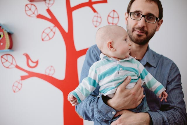 Manel with his son