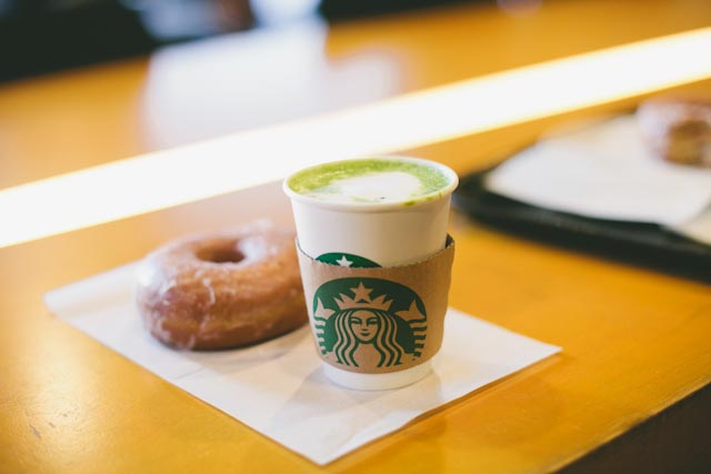 Japan matcha tea latte