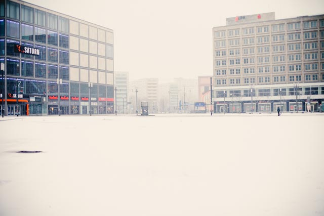 Snow at Alexanderplatz