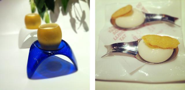 truffled egg & spherical payoyo