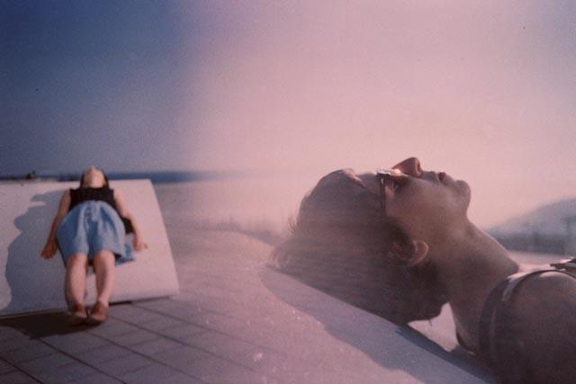 Dam sunbathing