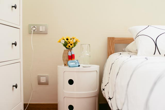 Bedside table - the cat you and us
