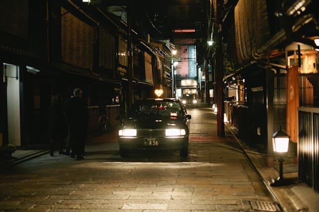 Heart taxi in Gion - the cat you and us
