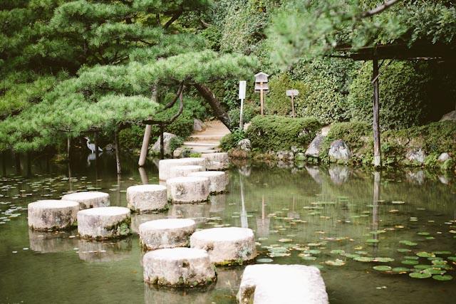 Heian garden rocks
