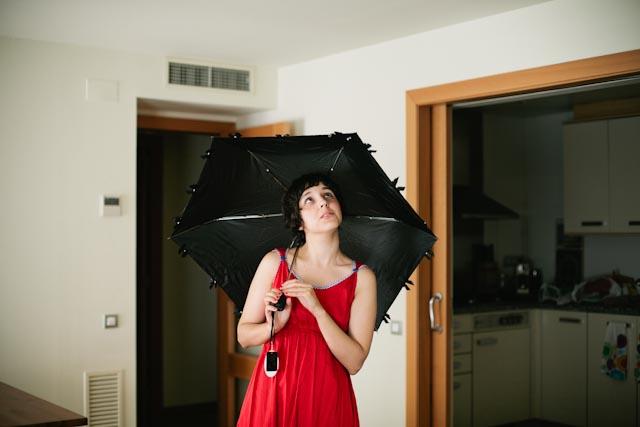 black umbrella - the cat you and us