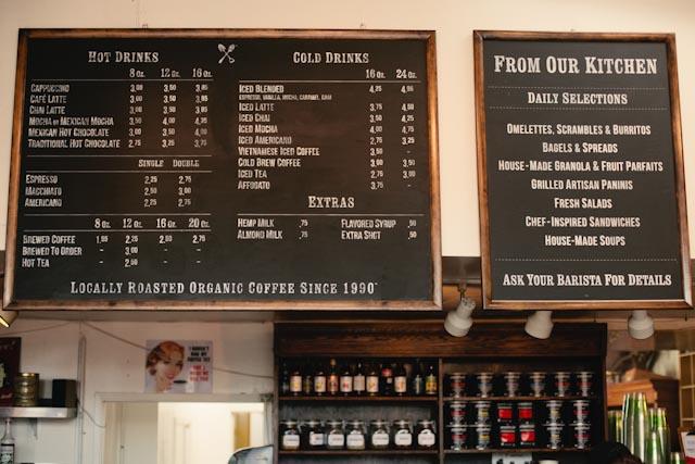 Groundwork coffee menu