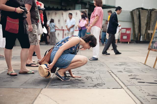 Chinese theater at Walk of Fame - the cat you and us