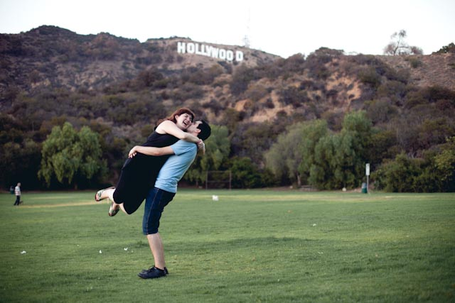 Hollywood sign Anna+Albert - the cat you and us