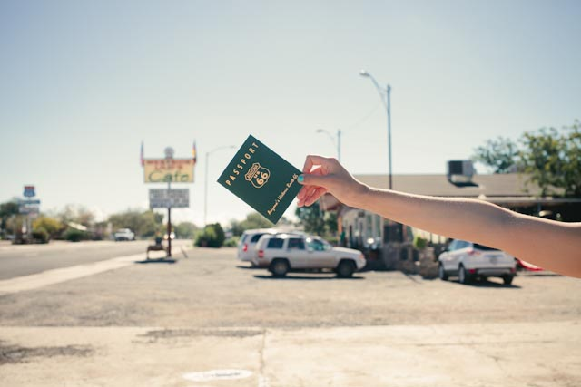Route 66 passport - The cat, you and us