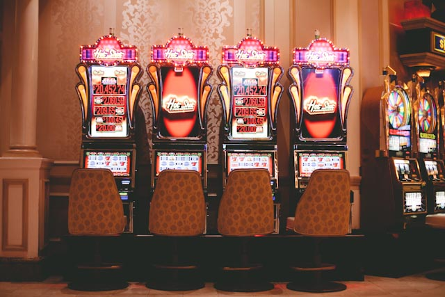 Slot machines of Las Vegas - The cat, you and us