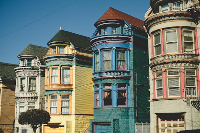 Painted houses in SF - The cat, you and us