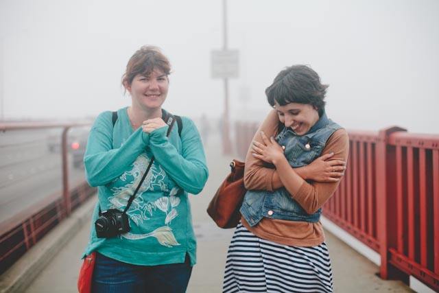 Anna and Damaris at the golden gate bridge - The cat, you and us
