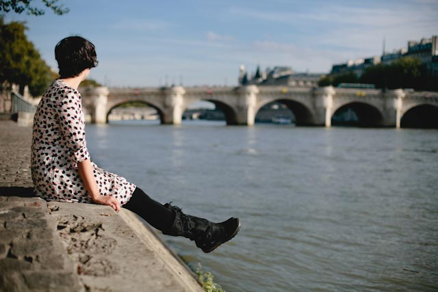 Seine riverside - The cat, you and us