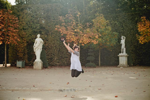 Versailles gardens jump- The cat, you and us