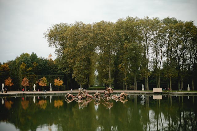 Versailles fountain - The cat, you and us
