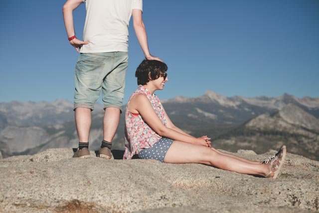 Damaris + Dani at Sentinel dome - The cat, you and us