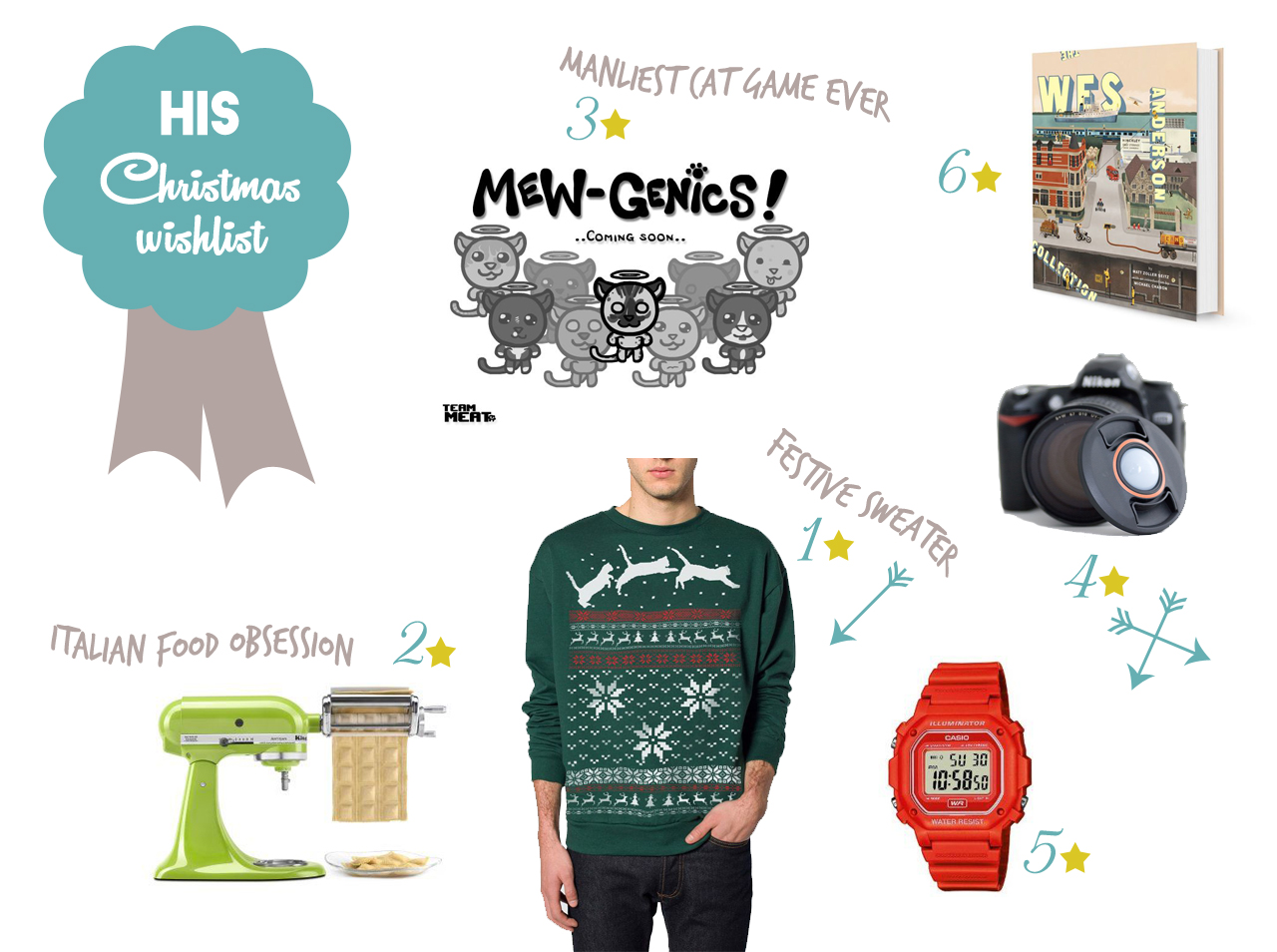 Him Christmas wishlist - The cat, you and us