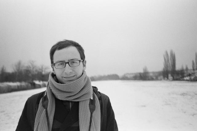 Berlin snow portrait - The cat, you and us