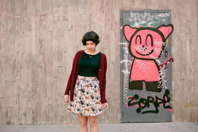 Cat skirt and a piggie - The cat, you and us