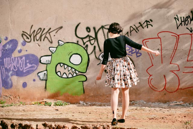 Green monster and the kitty skirt - The cat, you and us