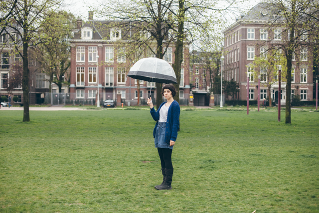 Umbrella at Museumplein - The cat, you and us