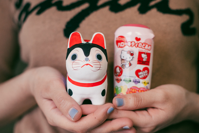 Asakusa cat charm & Hello Kitty - The cat, you and us