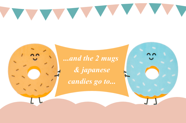 2 donut mugs giveaway winner - The cat, you and us