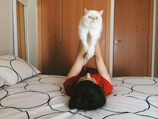 Damaris and Juno - The cat, you and us