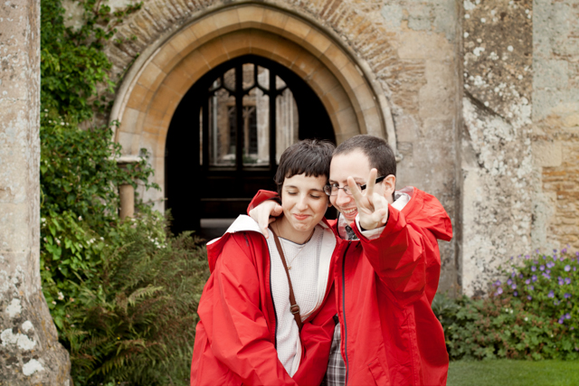 Damaris and Dani at Lacock Abbey - The cat, you and us