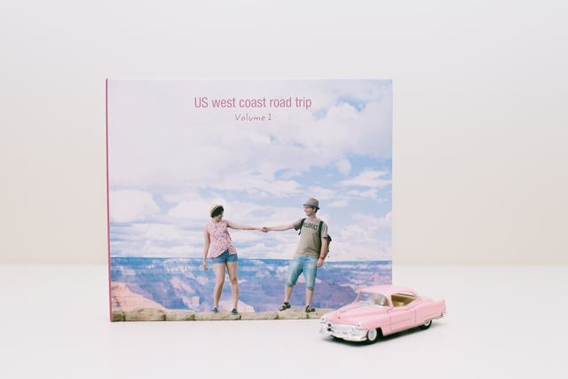 Blurb photo album cover west coast road trip - The cat, you and us