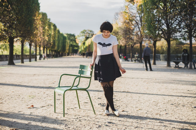 Autumn at Jardin des Tuleries - The cat, you and us
