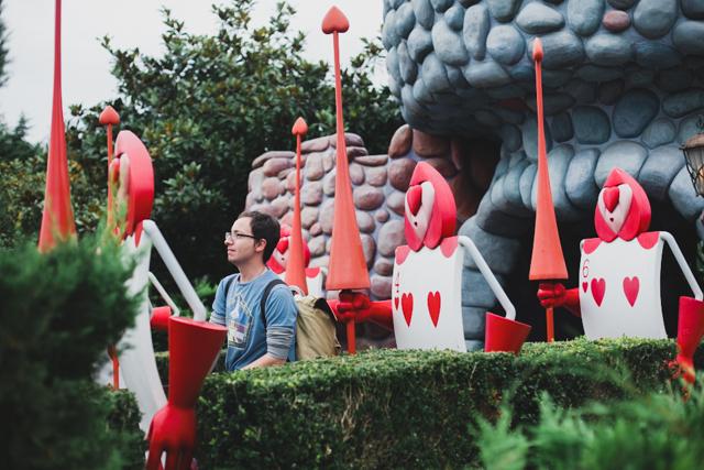 Alice in Wonderland Disneyland Paris - The cat, you and us