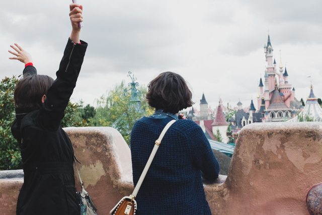 Disneyland Paris views - The cat, you and us
