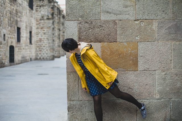 Yellow raincoat outfit - The cat, you and us
