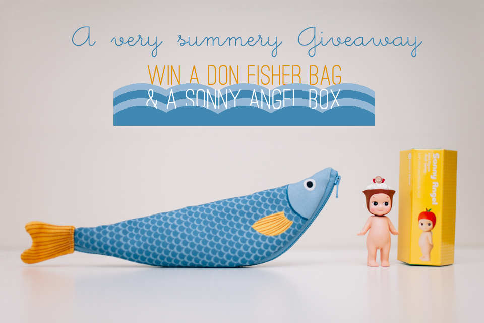 giveaway of a Don Fisher fish bag & a Sonny Angel blindbox - The cat, you and us