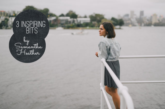 3 inspiring bits by Samantha Heather - The cat, you and us