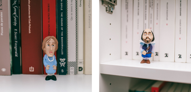 Virgina Woolf & William Shakespeare vinyl figures - The cat, you and us