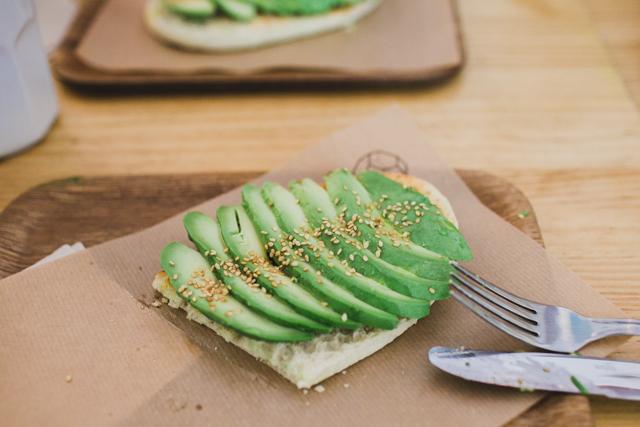 Cafe Cometa avocado toast - The cat, you and us