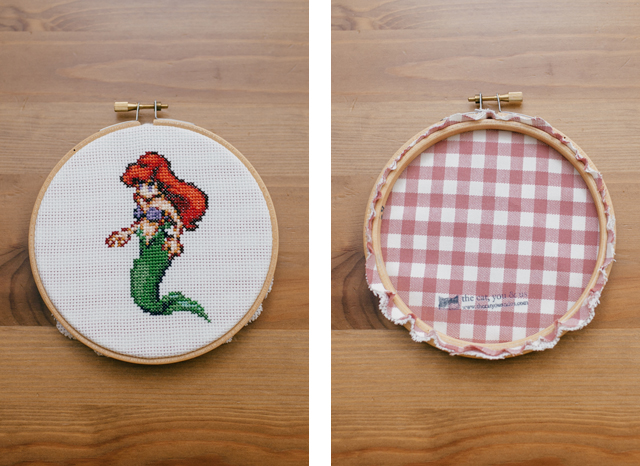 Little Mermaid cross stitch - The cat, you and us