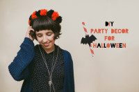 DIY party decor for Halloween - The cat, you and us