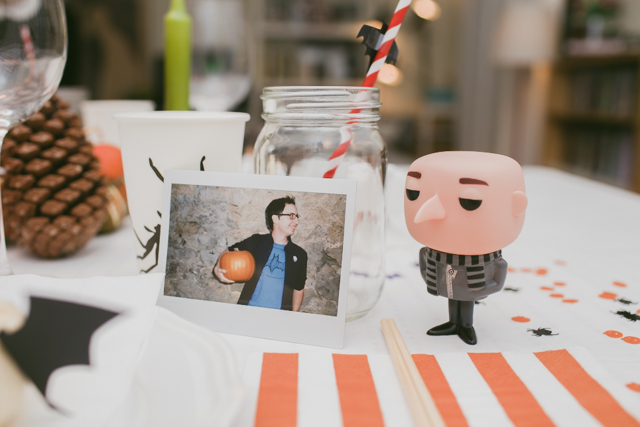 Halloween party table decor - The cat, you and us
