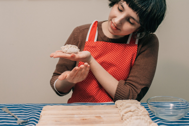Homemade gyoza - The cat, you and us