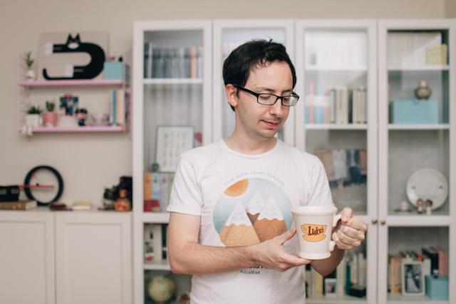 Luke's mug - The cat, you and us