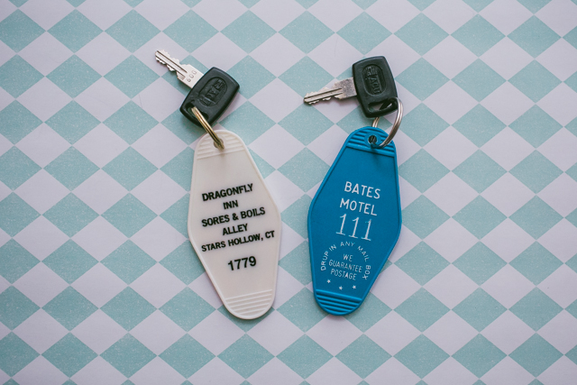 Gilmore Girls and Psycho keychains - The cat, you and us
