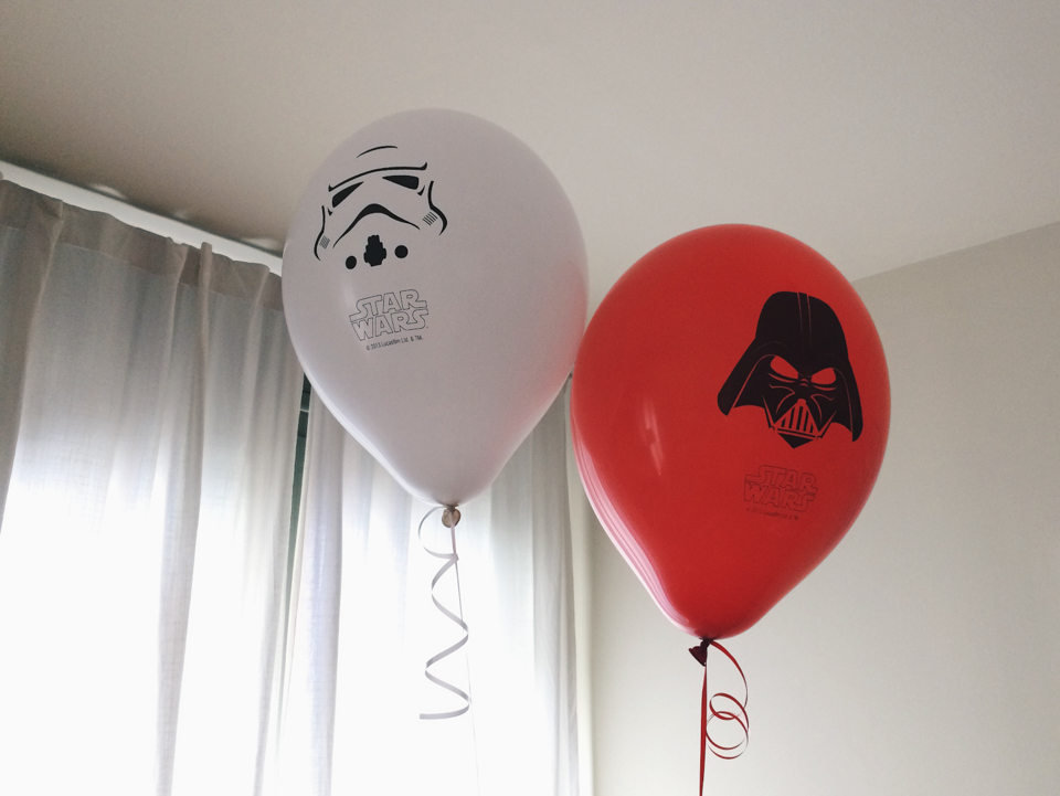 Star Wars balloons - The cat, you and us