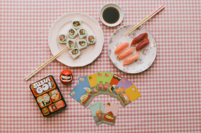 Sushi go! board game - the cat, you and us