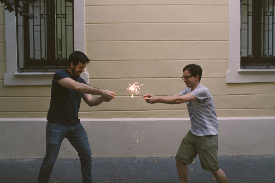 Star Wars fight with sparklers - The cat, you and us