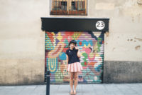 Colorful murals in Gracia - The cat, you and us