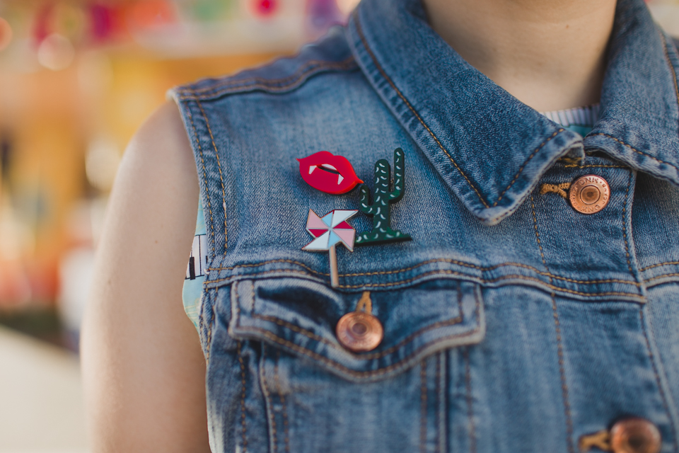 Pins in a denim vest - The cat, you and us